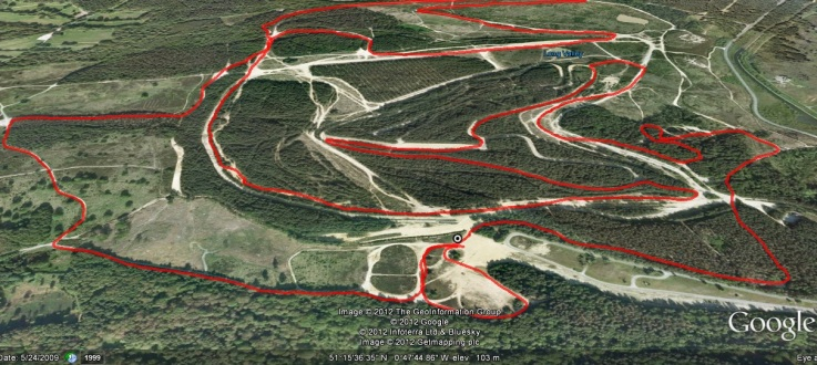 Grim 2012 Route (Image from Google Earth)