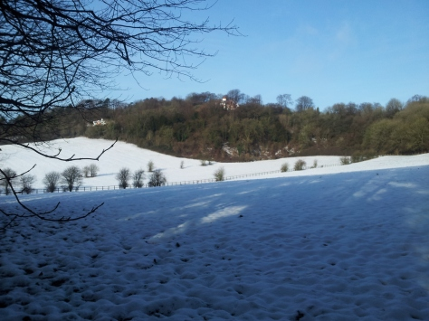 Still lots of snow on the fields