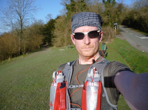 Me at Gravelly Hill wearing the SJ Vest