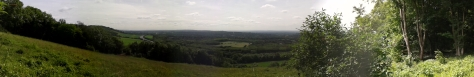 Panoramic shot of the views from the North Downs Way