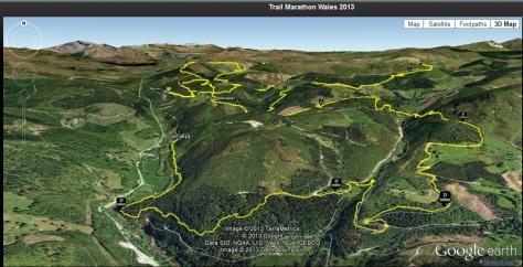 A Google Earth Image giving an idea of the terrain