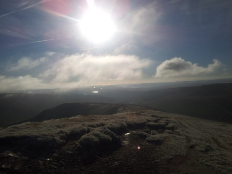 The view from Pen Y Fan, we couldn't have asked for better weather