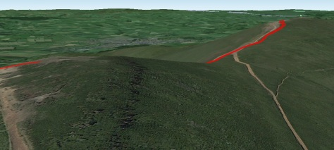 Shot showing the profile of Corn Du to Pen Y Fan